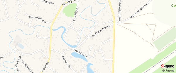 Улица Пархоменко на карте села Иглино с номерами домов