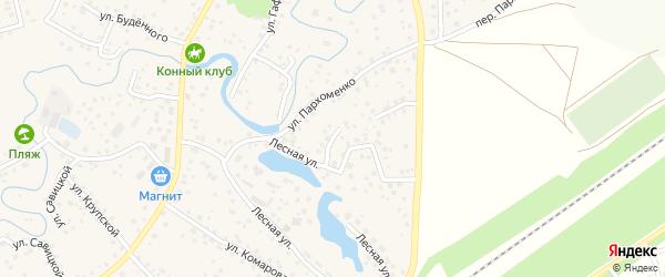 Лесной переулок на карте села Иглино с номерами домов