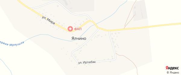 Улица Иртюбяк на карте деревни Ялчино с номерами домов
