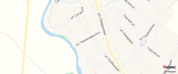 Улица Чернышевского на карте села Красноусольского с номерами домов