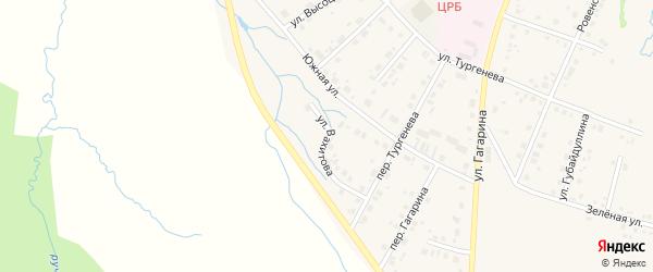 Улица Вахитова на карте села Красноусольского с номерами домов