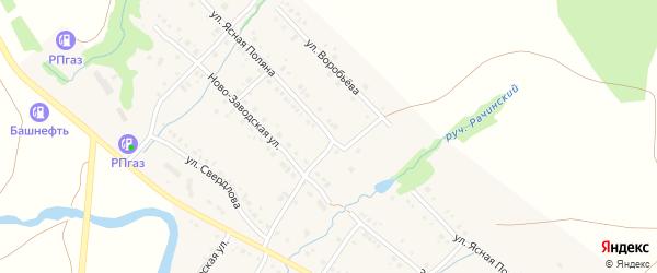 Улица Ясная Поляна на карте села Красноусольского с номерами домов