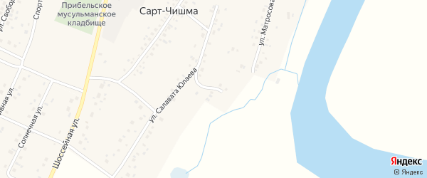Улица Матросова на карте села Сарта-Чишма с номерами домов