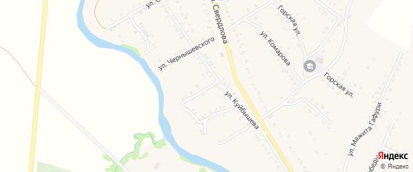 Улица Островского на карте села Красноусольского с номерами домов