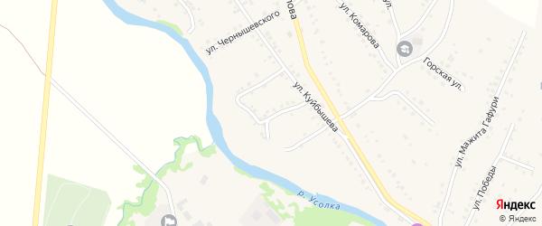 Пионерская улица на карте села Красноусольского с номерами домов