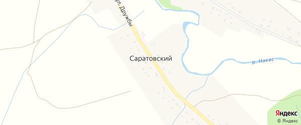 Улица Дружбы на карте Саратовского хутора с номерами домов
