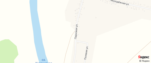 Парковая улица на карте деревни Чурашево с номерами домов