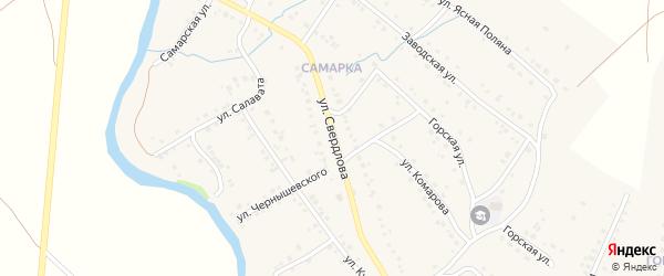 Улица Свердлова на карте села Красноусольского с номерами домов