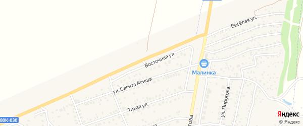 Восточная улица на карте села Иглино с номерами домов