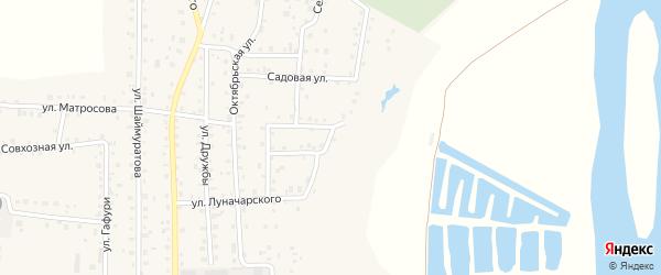 Овражная улица на карте села Прибельского с номерами домов