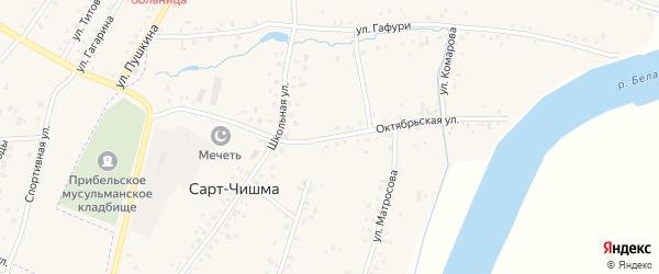 Октябрьская улица на карте села Сарта-Чишма с номерами домов