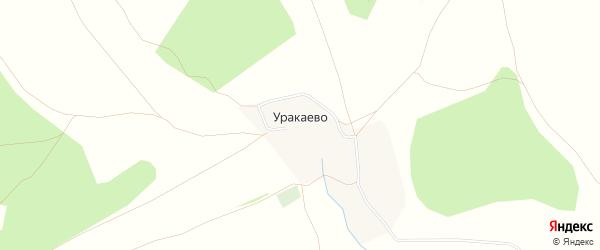 Карта деревни Уракаево в Башкортостане с улицами и номерами домов