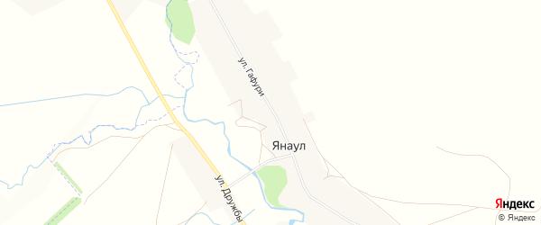 Карта села Янаула в Башкортостане с улицами и номерами домов