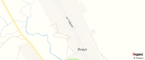 Улица М.Гафури на карте села Янаула с номерами домов
