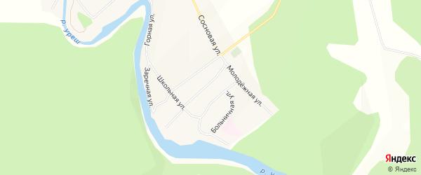 Карта села Красного Урюша в Башкортостане с улицами и номерами домов