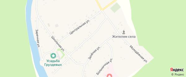 Зеленый переулок на карте села Красного Урюша с номерами домов