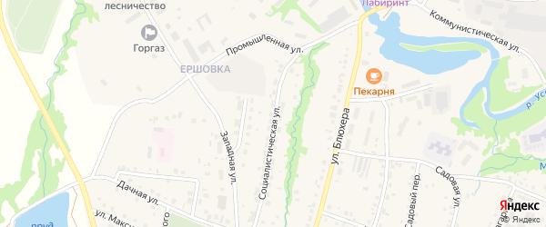 Социалистическая улица на карте села Красноусольского с номерами домов