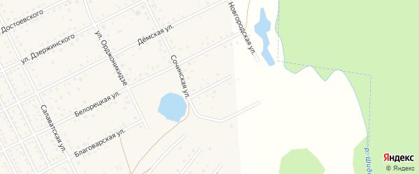 Тульская улица на карте села Иглино с номерами домов