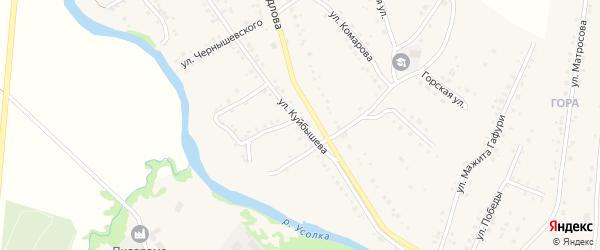 Улица Куйбышева на карте села Красноусольского с номерами домов