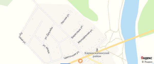 Береговая улица на карте деревни Старошареево с номерами домов