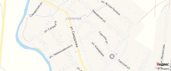 Переулок Комарова на карте села Красноусольского с номерами домов