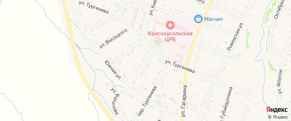 Полевая улица на карте села Красноусольского с номерами домов
