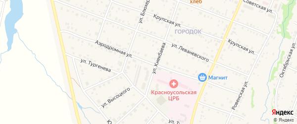 Аэродромная улица на карте села Красноусольского с номерами домов