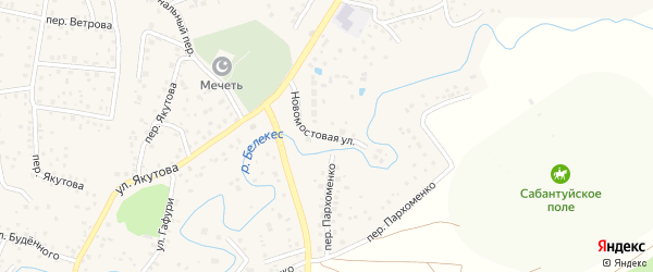 Новомостовая улица на карте села Иглино с номерами домов