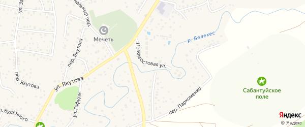 Мостовая улица на карте села Иглино с номерами домов