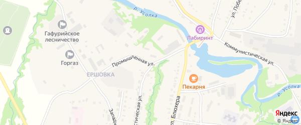 Промышленная улица на карте села Красноусольского с номерами домов