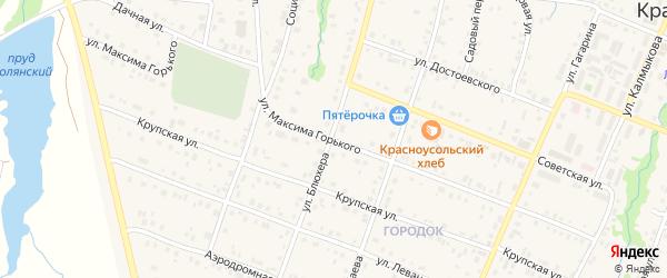 Улица Горького на карте села Красноусольского с номерами домов