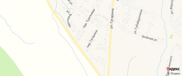 Переулок Гагарина на карте села Красноусольского с номерами домов