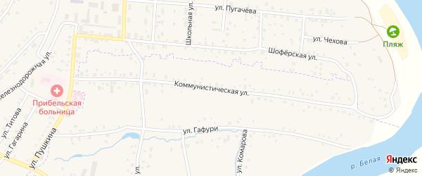 Коммунистическая улица на карте села Сарта-Чишма с номерами домов