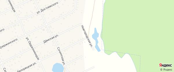 Новгородская улица на карте села Иглино с номерами домов