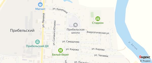 Энергетическая улица на карте села Прибельского с номерами домов