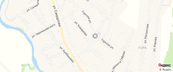 Улица Комарова на карте села Красноусольского с номерами домов