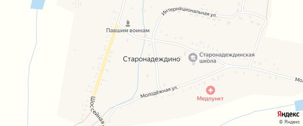 Молодежная улица на карте села Старонадеждино с номерами домов