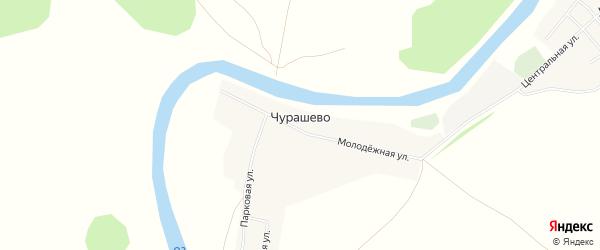 Карта деревни Чурашево в Башкортостане с улицами и номерами домов