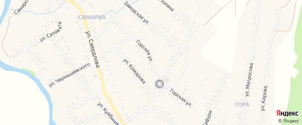 Горская улица на карте села Красноусольского с номерами домов