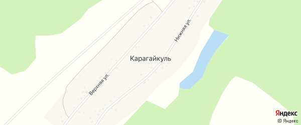 Верхняя улица на карте деревни Карагайкуля с номерами домов