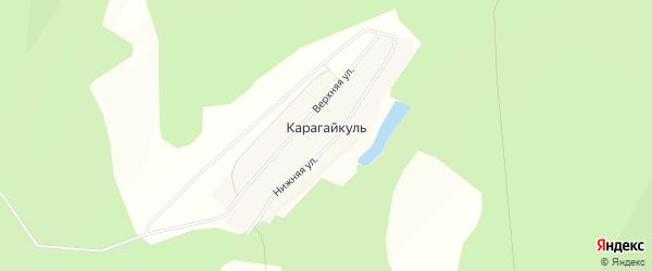 Карта деревни Карагайкуля в Башкортостане с улицами и номерами домов