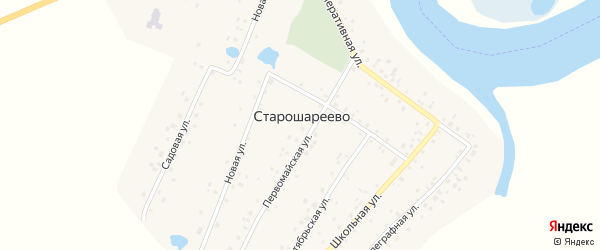 Кооперативная улица на карте деревни Старошареево с номерами домов
