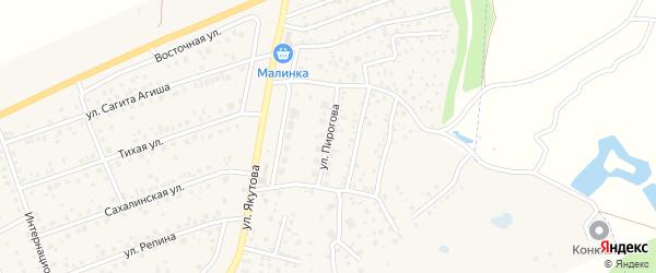 Улица Пирогова на карте села Иглино с номерами домов