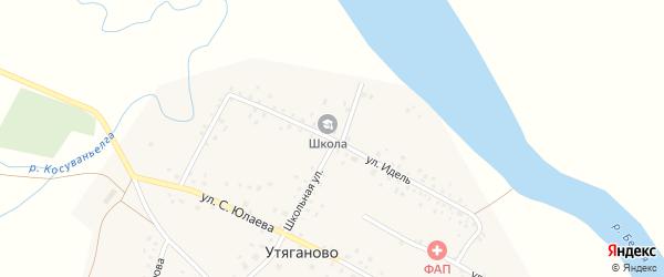 Улица Идель на карте села Утяганово с номерами домов