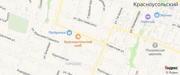 Советская улица на карте села Красноусольского с номерами домов
