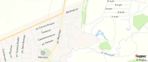 СНТ Луговой на карте Иглинского района с номерами домов