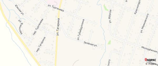 Улица Губайдуллина на карте села Красноусольского с номерами домов