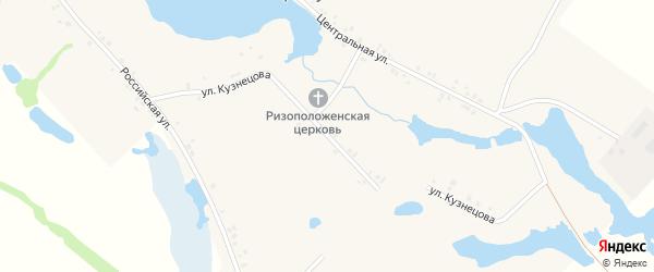 Улица Кузнецова на карте села Артакуля с номерами домов