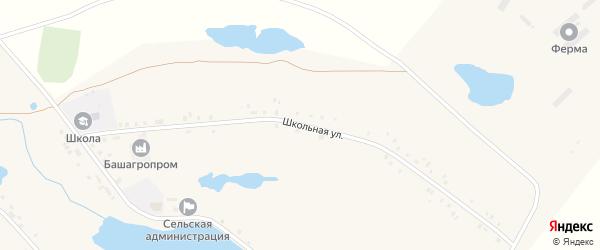 Школьная улица на карте села Артакуля с номерами домов