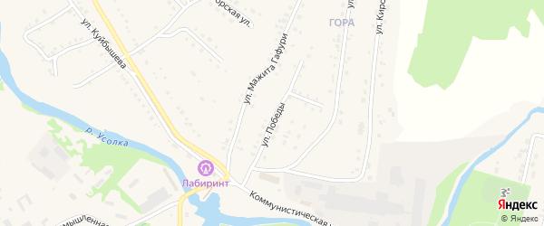 Улица Победы на карте села Красноусольского с номерами домов